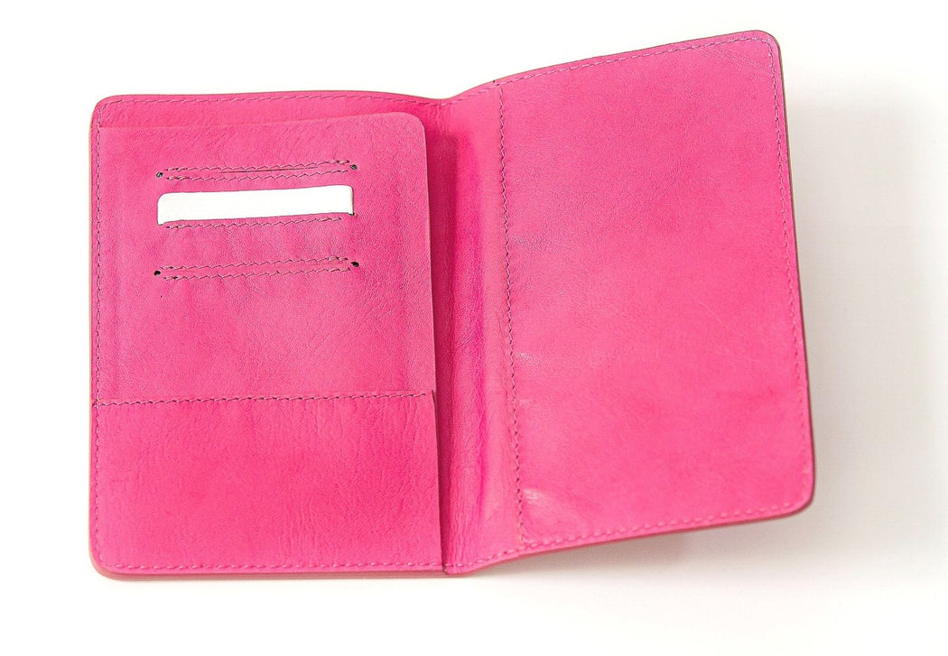 Pink Darrell's Island Passport Holder