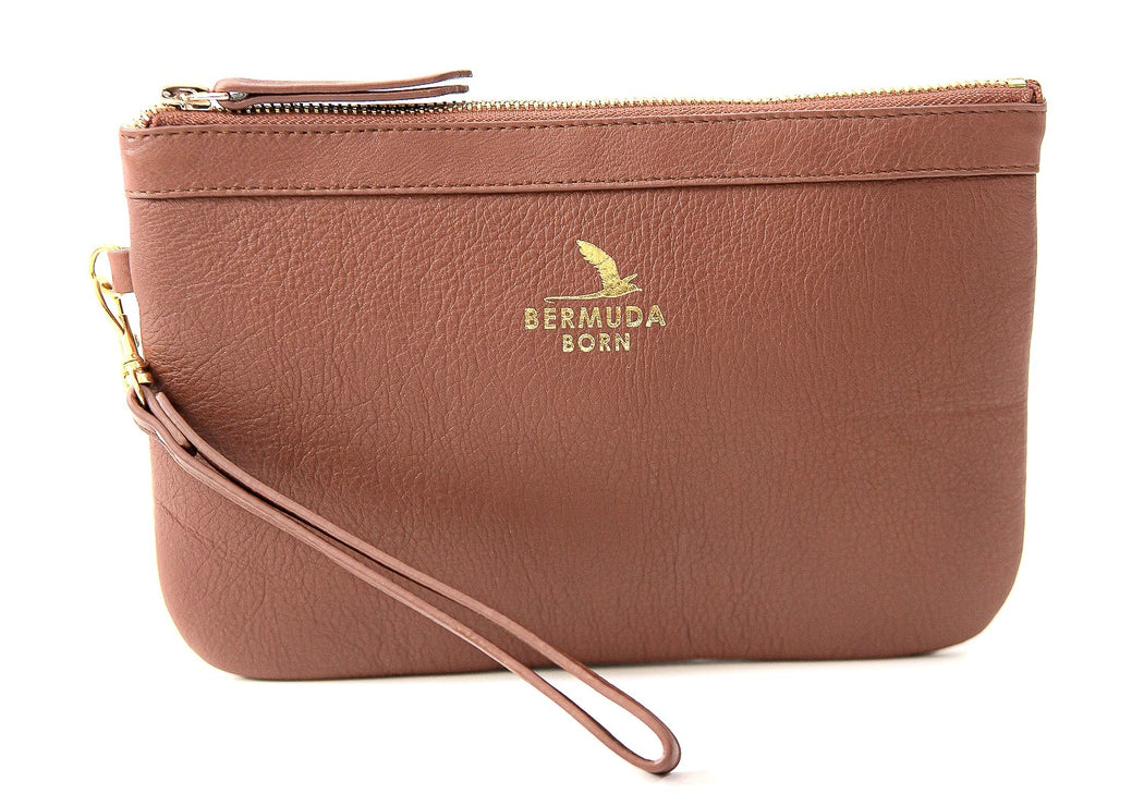 Brown Tobacco Bay Clutch Bag