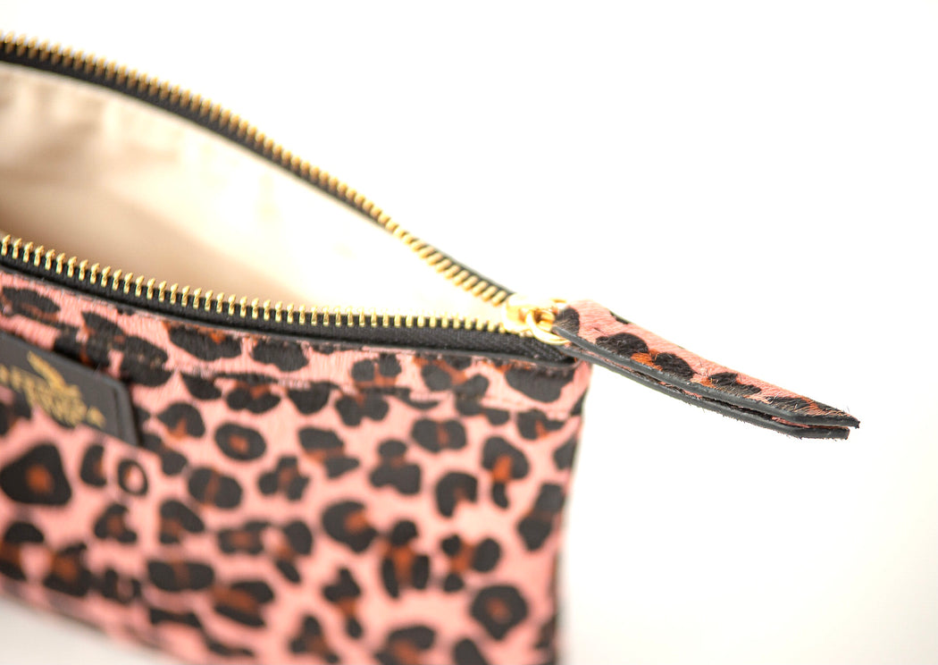Flatt's Spotted Print Clutch Bag in Pink