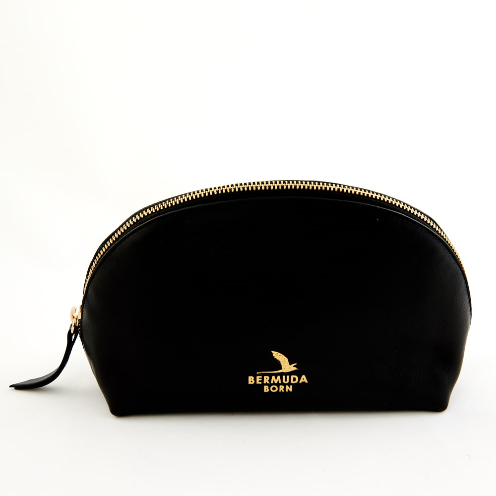 Black Bermuda Moongate Toiletry Bag - Bermuda Born