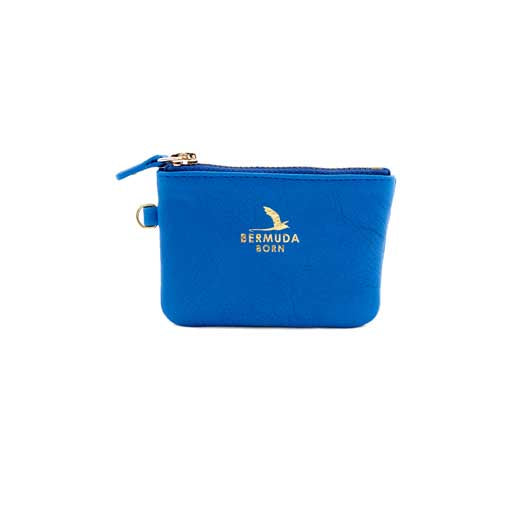 Longtail royal blue leather Coin and Card Case - Bermuda Born