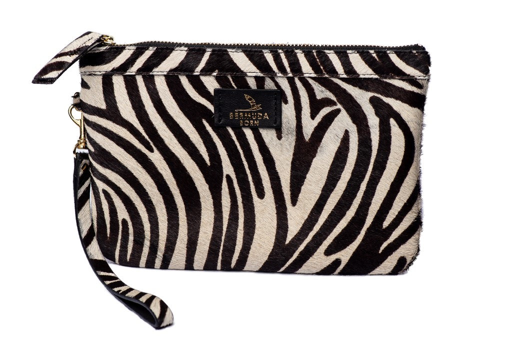 Flatt's Zebra Print Clutch Bag