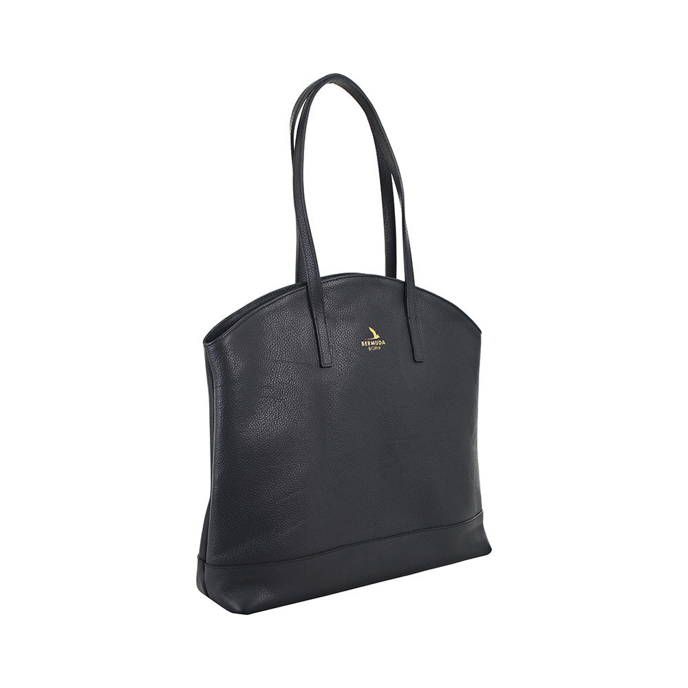 Black Large Pebble Leather Tote Handbag online