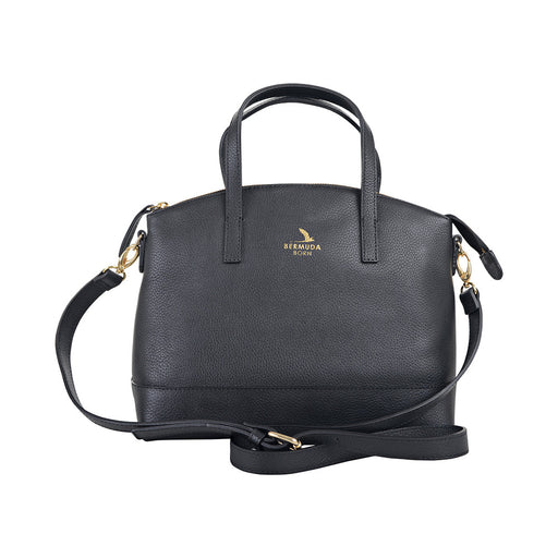 Black Pebble Leather Paget Purse Handbag - Bermuda Born