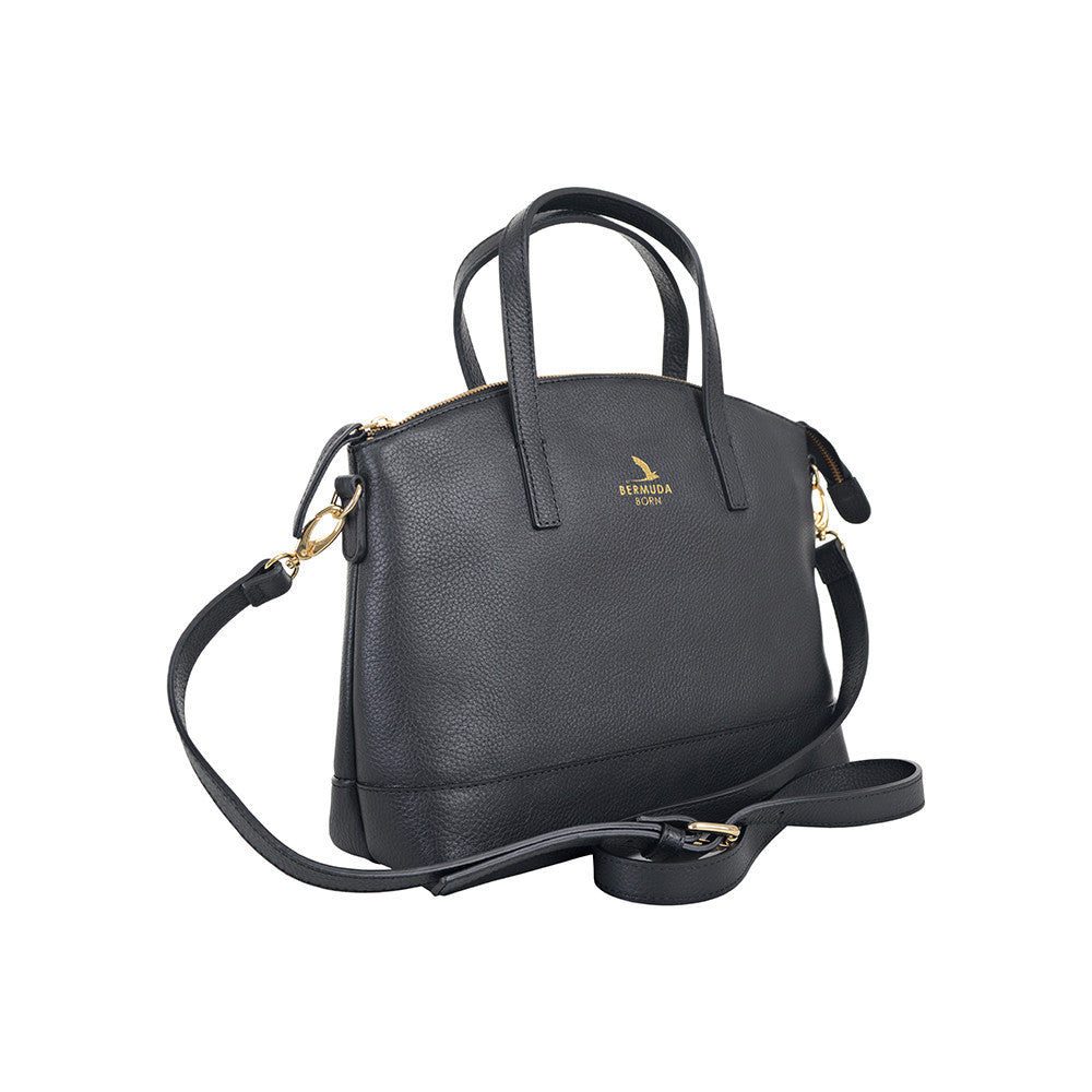 Black Pebble Leather Purse Handbag Online