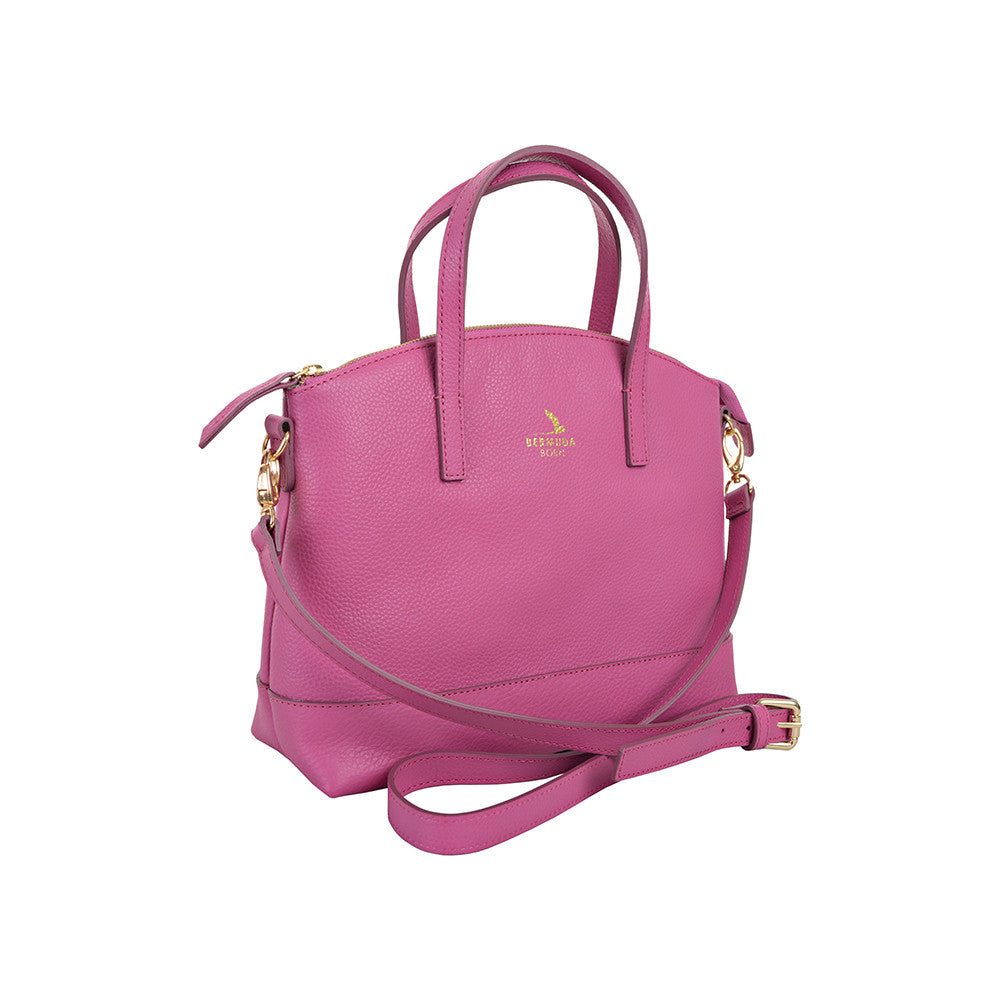 Pink Pebble Leather Purse Handbag Online UK