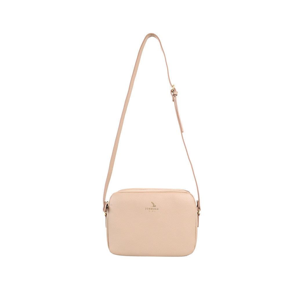 Cream Leather Crossbody Bag online - Bermuda Born