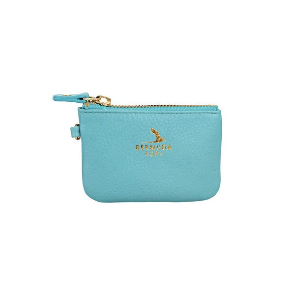 Longtail Coin and Card Case in Aqua - Bermuda Born