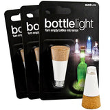 Led Cork Bottle Light With Usb Charging And Twist On/Off - Set Of Three