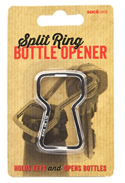 SUCK UK Split Ring Bottle Opener and Key Ring