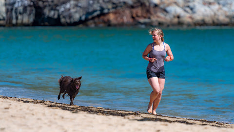Exercising and running with dog