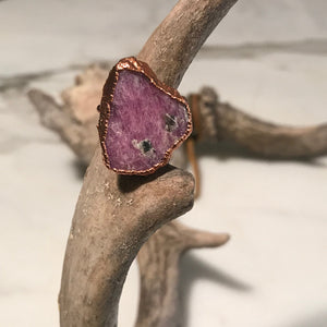Raw Ruby Ring