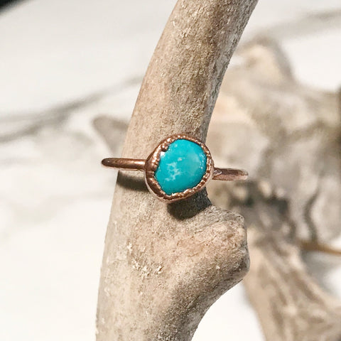 Natural Fox Turquoise Ring - Small
