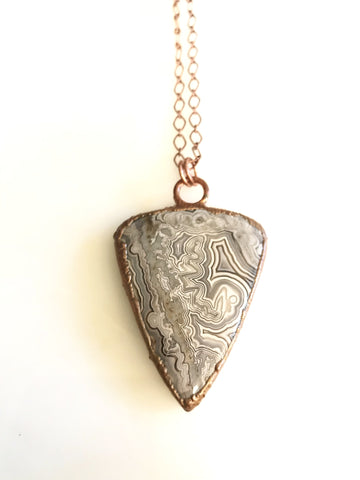Large Crazy Lace Agate Necklace