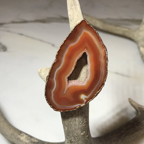 Extra Large Agate Slice Ring