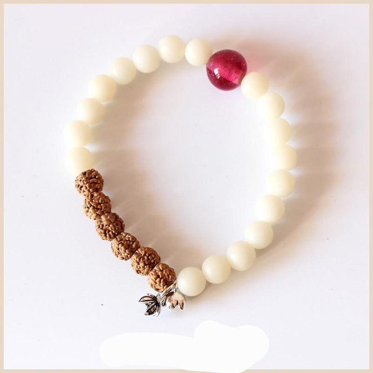 All Natural Rudraksha Beads Bracelet-bracelets-Goddess Jewelry