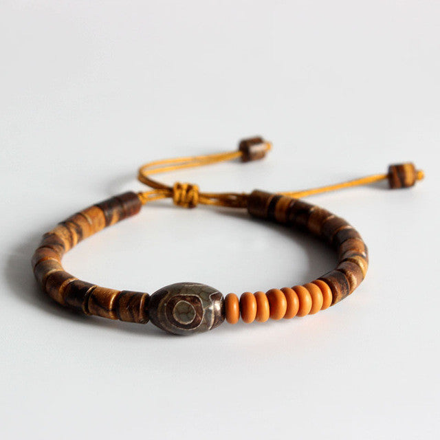 All Natural Wooden and Coconut Meditation Bracelet