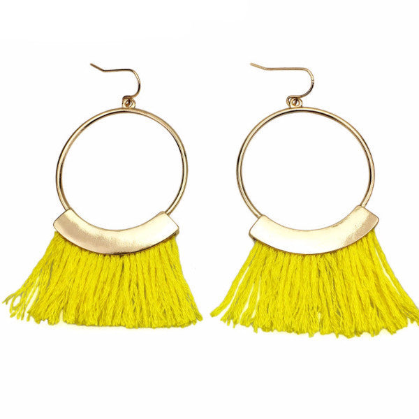 Calypso Cotton Tassel Earrings