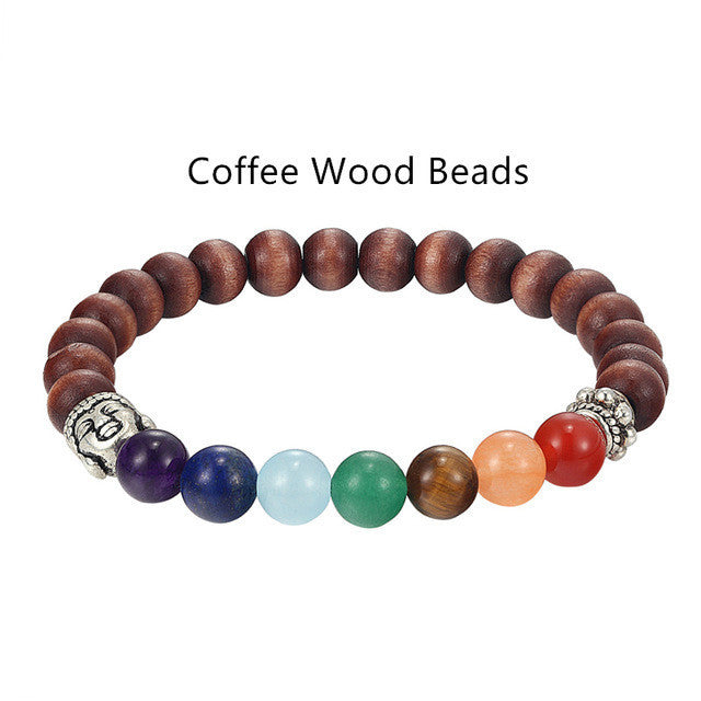 Gemstone with 7 Colors Yoga Chakra Bracelets-bracelets-Goddess Jewelry