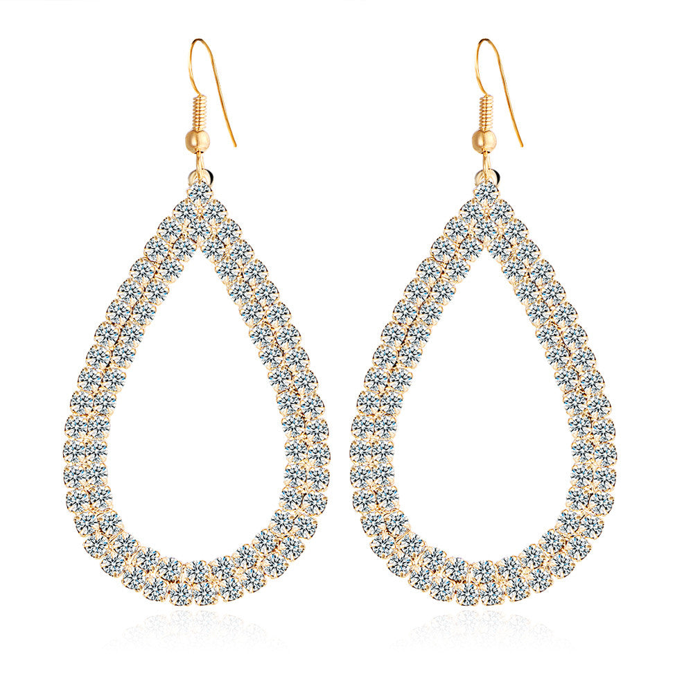 Loop de Loop Beach Sparkle Austrian Crystal Earrings