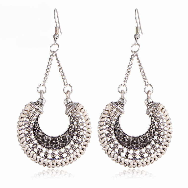Under the Stars Boho Antique Drop Earrings
