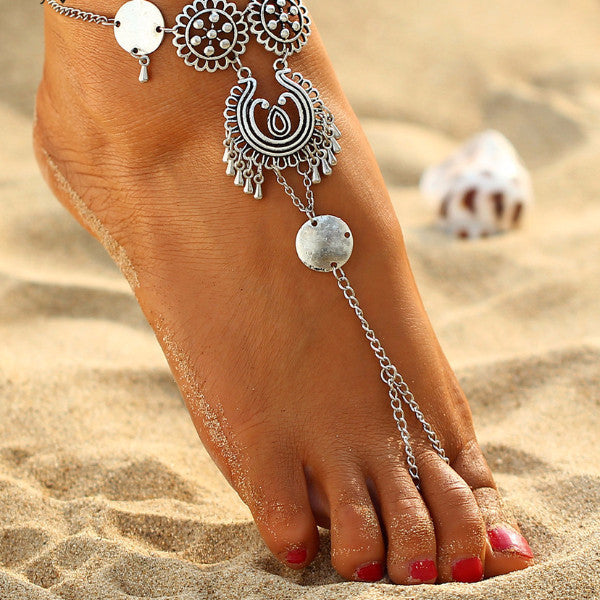 Dazzle Gypsy Antique Anklet Barefoot Foot Jewelry