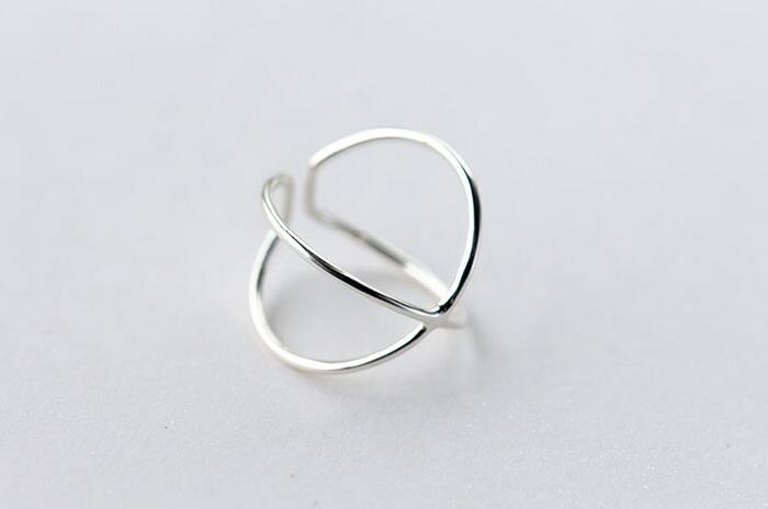 Sparkle Cross Ring - Adjustable