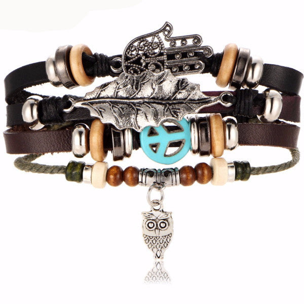 Rustic Beach Leather Stackable Charms