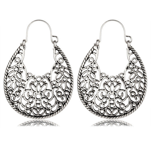 Stolen Kiss Flower Double Side Drop Earrings