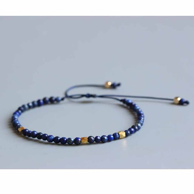 Natural Lapis Lazuli Stone Red Tiger Eye Bracelets
