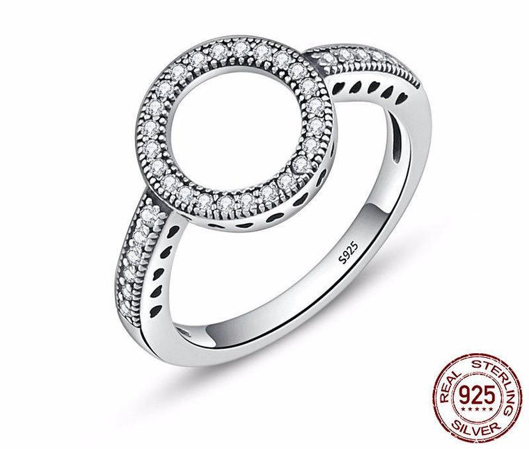 Forever Clear CZ Circle Ring