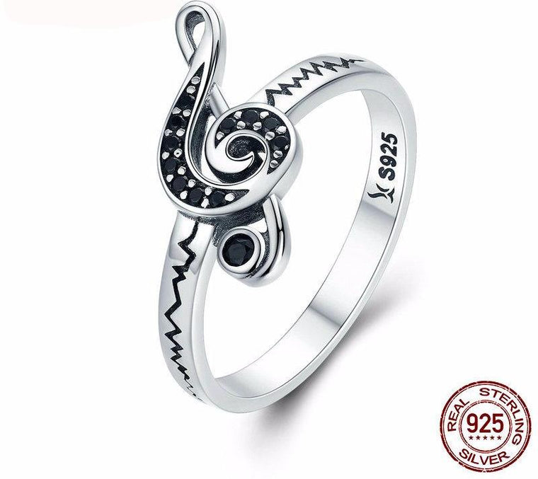 Dancing Melody Musical Note Ring