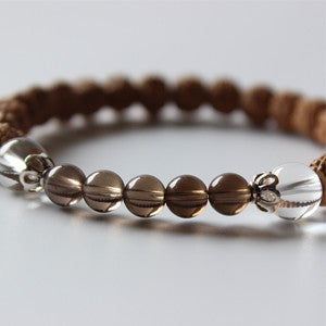 Rudraksha With Crystal Beads Yoga Bracelet-bracelets-Goddess Jewelry