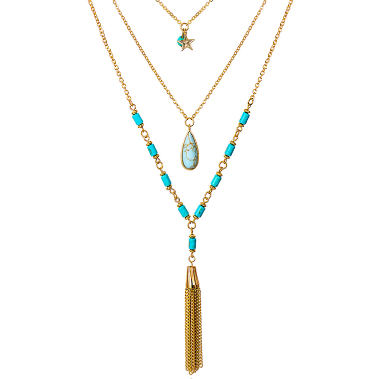 Seaside Glam Multi-Layered Chain Necklace-Necklace-Goddess Jewelry