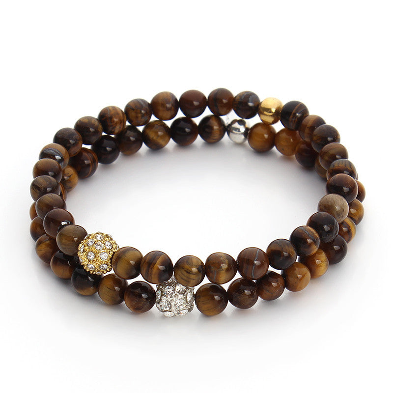Tiger Eye Stone Yoga Bracelet-bracelets-Goddess Jewelry