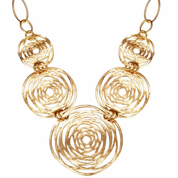 Venus Glam Ancient Round Circle Necklace-Necklace-Goddess Jewelry