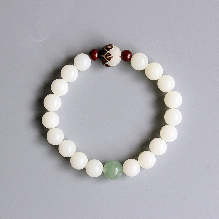 Very Buddhist Prayer with a Bodhi Seed Bracelet-bracelets-Goddess Jewelry