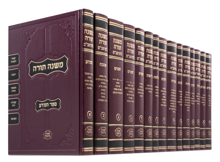 רמב״ם Full Edition - Small Size (16 Volumes) (10 x 7 in.) FREE SHIPPING!!