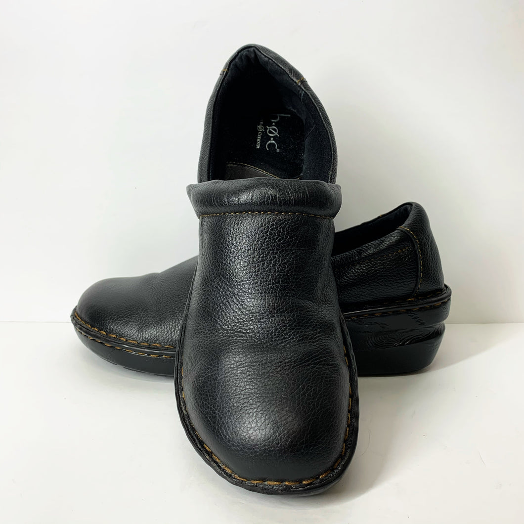 B.O.C Womens Black Peggy Clogs (11M)