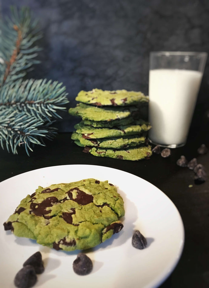 Matcha Chocolate Chip Chookies