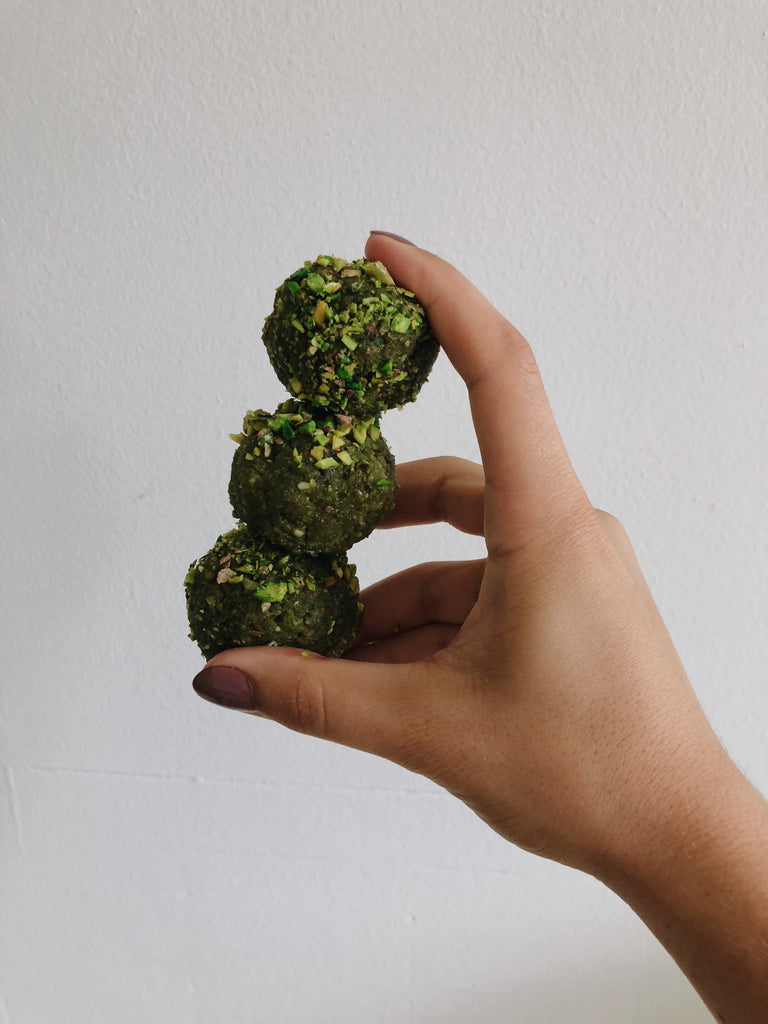 energy balls matcha green tea recipe