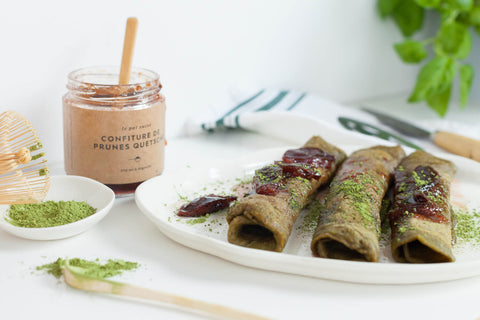 Matcha green tea crepe recipe