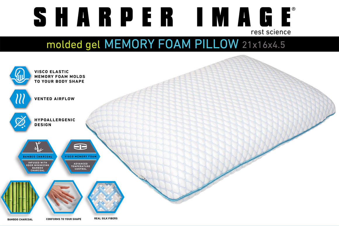 Temperature Control Memory Foam Pillow by Sharper Image
