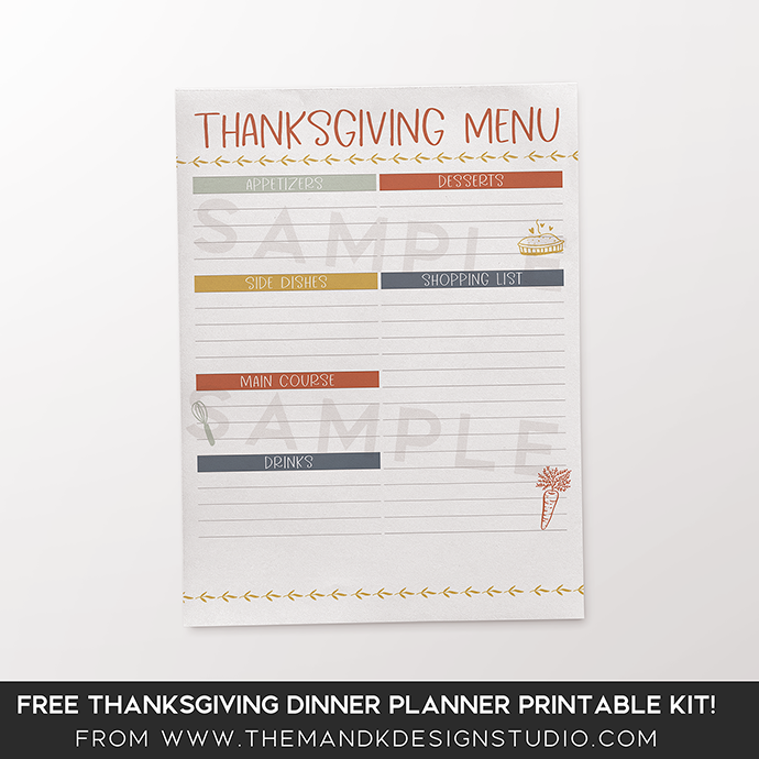 photo about Thanksgiving Menu Planner Printable identified as Blogger Freebies Components Tagged \