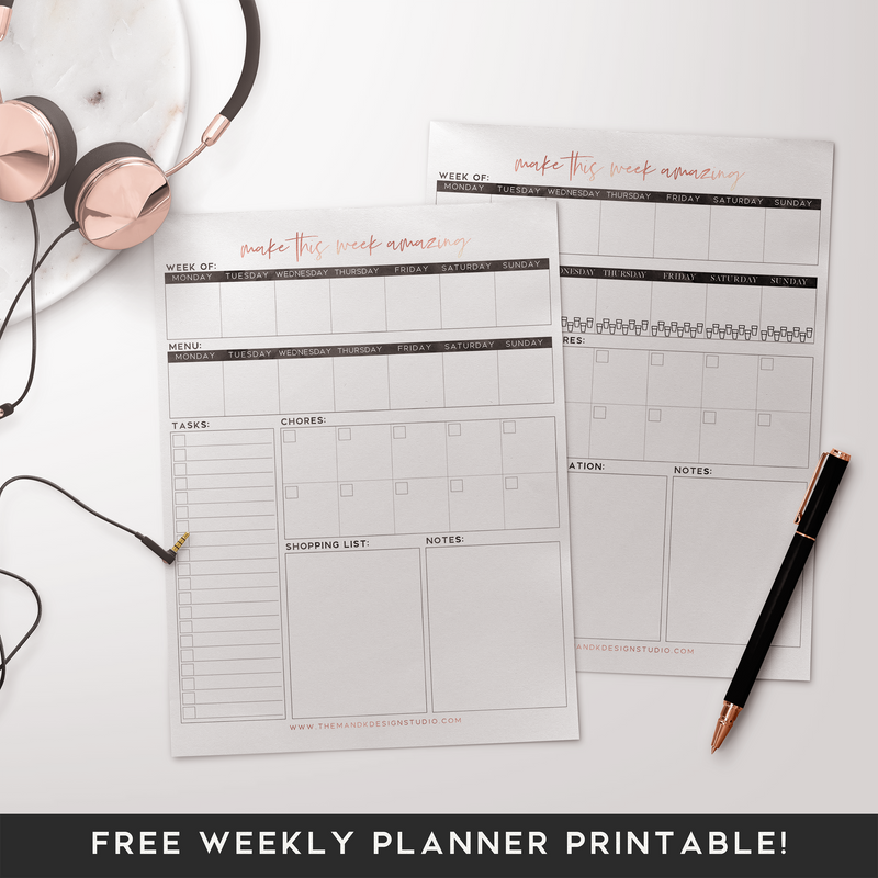 Freebie: Weekly Planner Printable