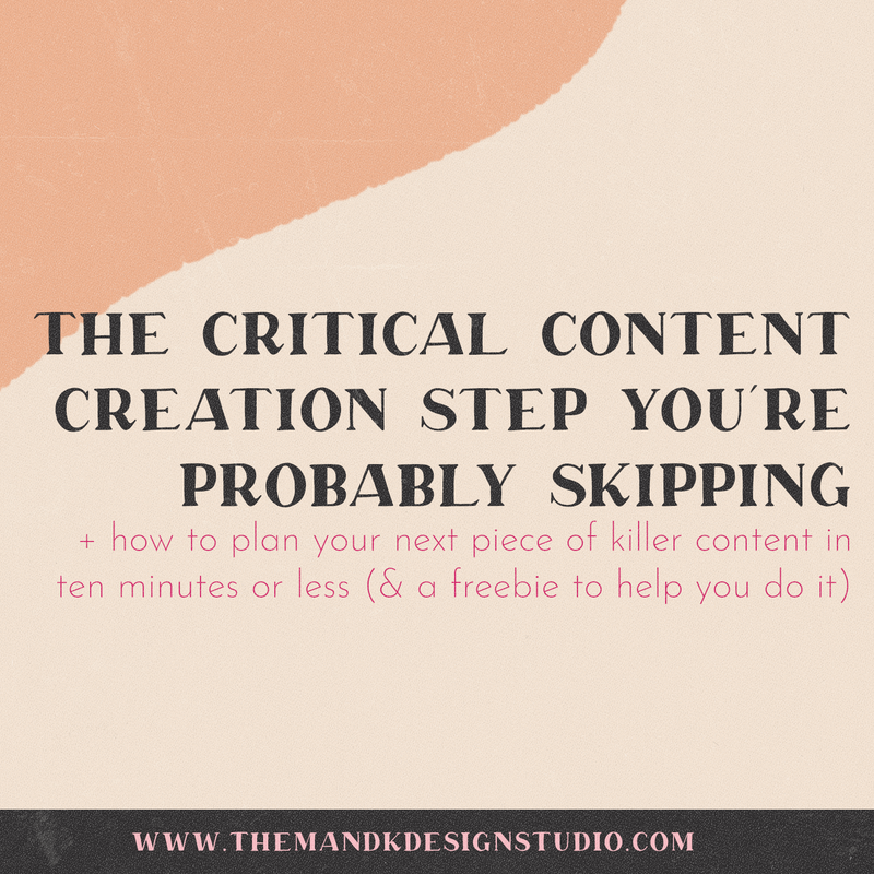 The Critical Content Creation Step You're Probably Skipping