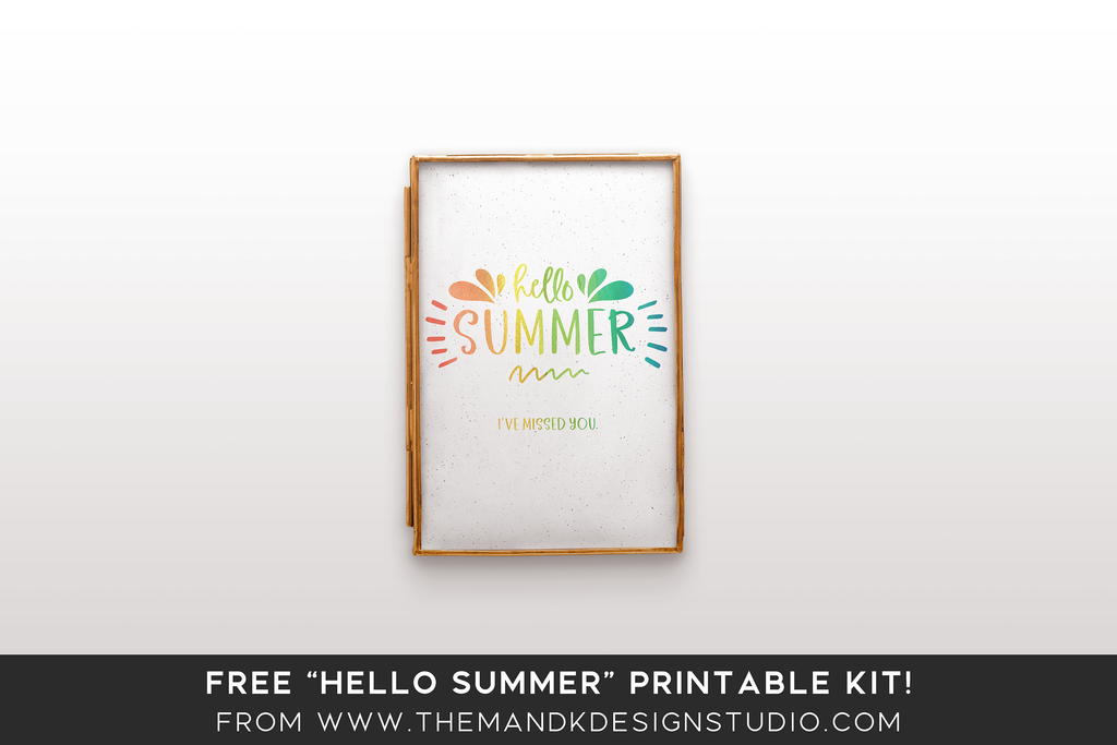 Blogger Freebie: Hello Summer Typography Printable + Instagram Image Kit