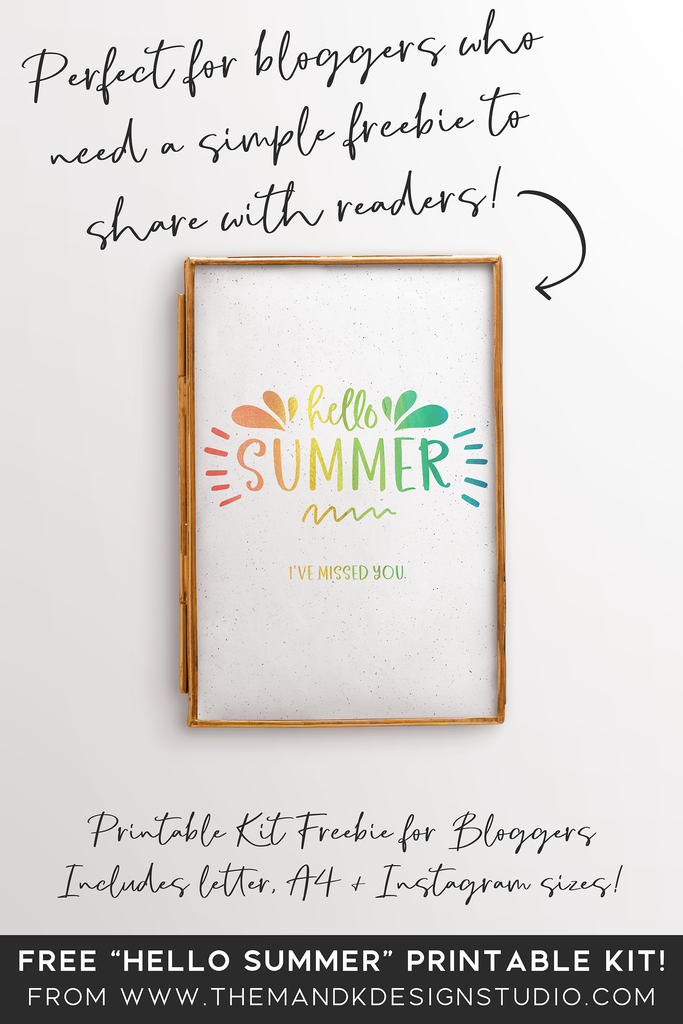 Hello Summer Printable Kit | Blogger Freebie
