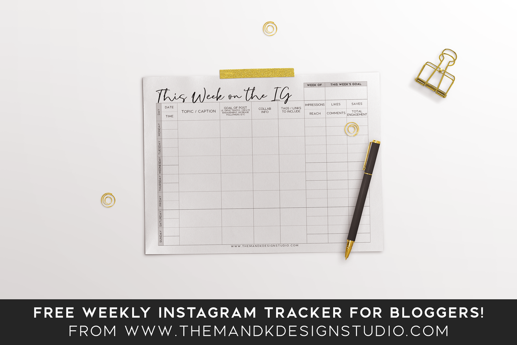 This Week on the IG Instagram Planner & Tracker