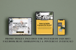 Hipster eBook & eCourse Template Bundle for Canva